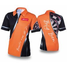 XQmax Darts BvdP Replica Match Shirt Orange Size XS QD9200210