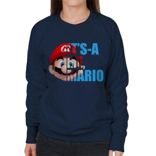 Super Mario Half Head Text Women's Sweatshirt