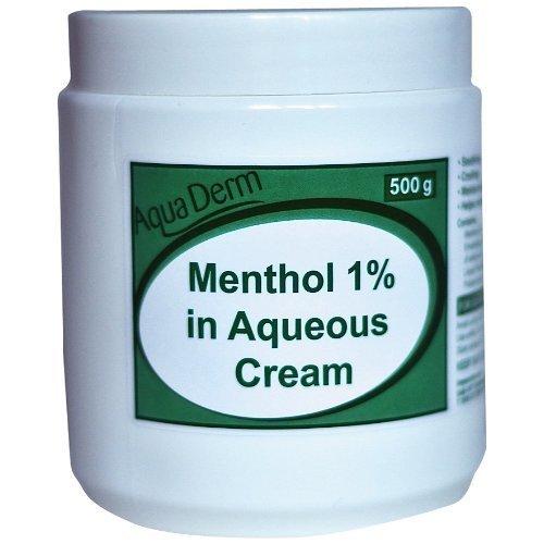 Rxfarma-AquaDerm 500g Menthol in Aqueous Cream Tub 1 Percent