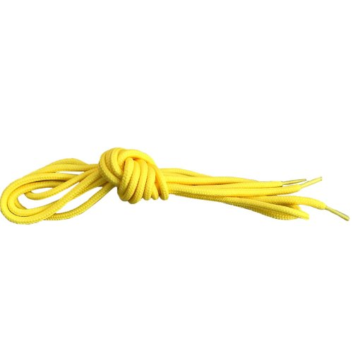 Yellow Round Shoelaces Strings For Trainers Football Boots