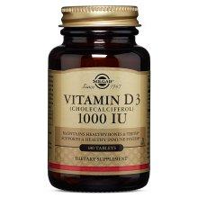 Solgar, Natural Vitamin D3, 1000 IU, 180 Tablets