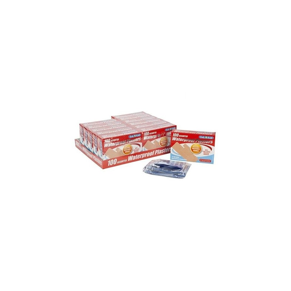 Assorted Ventialted Platers - 100 waterproof plasters pack