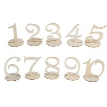 TRIXES Wooden Wedding Table Numbered Placement Cards 1-10