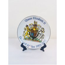 Queen elizabeth 2 Diamond Jubilee 1952-2012 Souvenir ceramic plate New