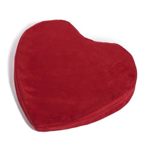 Hermell FW1818MO Heart-Shaped Pleasure Pillow - 4 x 15.5 x 17.5 in.