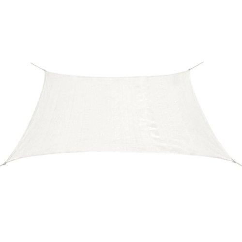 43017 vidaXL Sunshade Sail HDPE Rectangular 4x6 m White