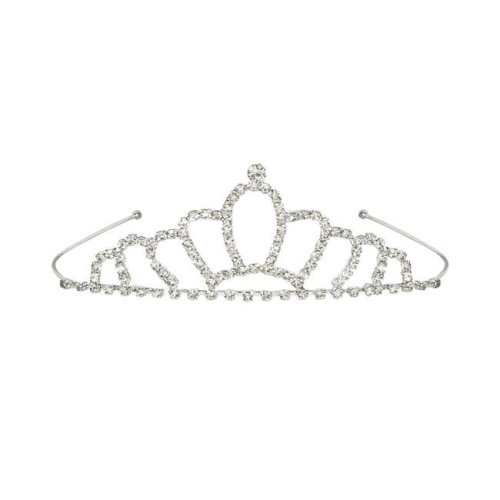 Beistle 60073 Royal Rhinestone Tiara, White - Pack of 6