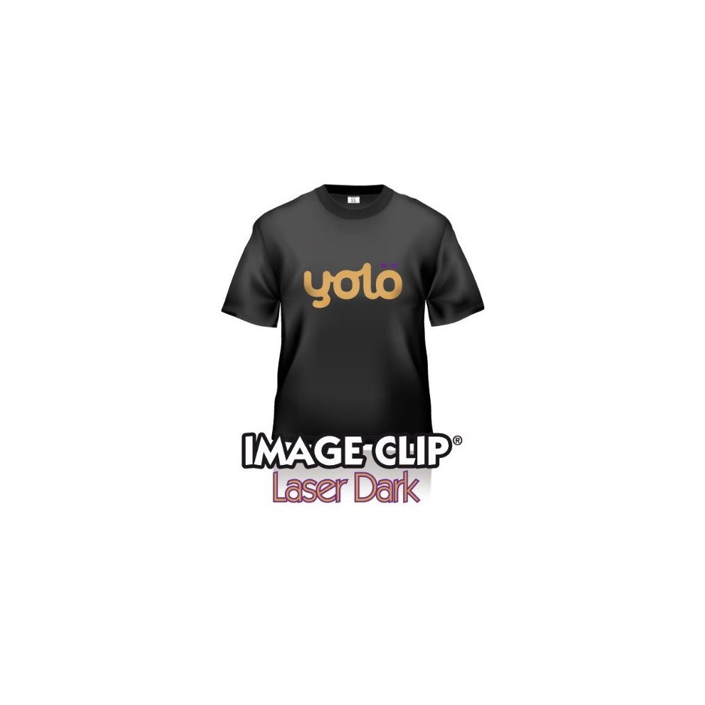 10 x A4 Sheets of Image Clip® Laser Dark Self-Weeding Heat Transfer Paper  / T-Shirt Transfers