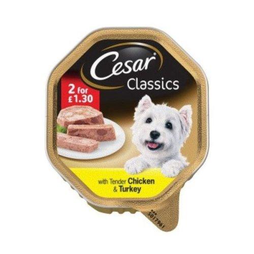 Cesar Foil Chicken & Turkey (14 x 150g)