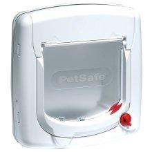 PetSafe Staywell Deluxe Manual Cat Flap Pet Door - 4-Way Lock Easy Install White