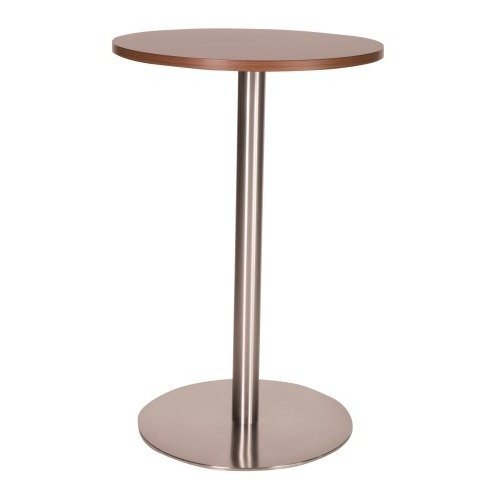 Daniella Stainless Steel Kitchen Bar Tall Poseur Table Wenge Round 1200 Round (+120) Regular