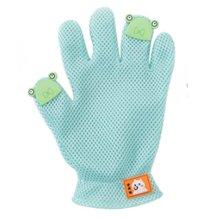 Pet Grooming Glove Gentle Deshedding Brush Glove Five Finger Design Green