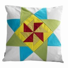 Without Insert, Decorative Sofa/Bed Windmill Pattern Pillow Case