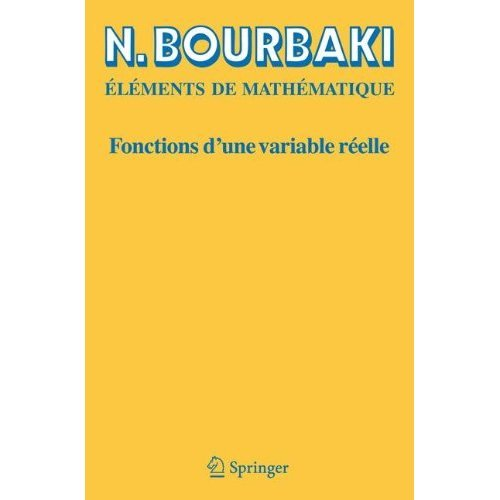 Fonctions D'une Variable Reelle: Theorie Elementaire (French Edition)