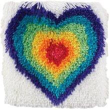 "Caron Shaggy Latch Hook Kit 12""X12""-From The Heart"
