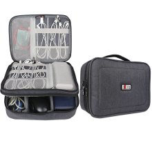 BUBM Travel Cable Bag, Ultra-compact Electronics Gadget Organiser Case