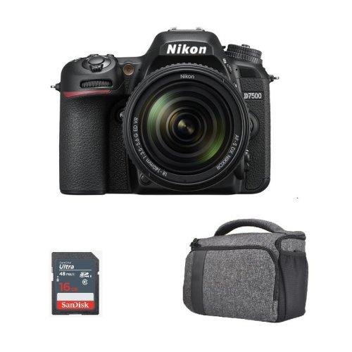 NIKON D7500 + AF-S 18-140MM F3.5-5.6G ED VR DX + Bag +16gb SD card