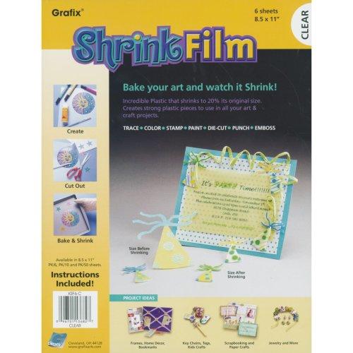 "Grafix Shrink Film 8.5""X11"" 6/Pkg-Clear"