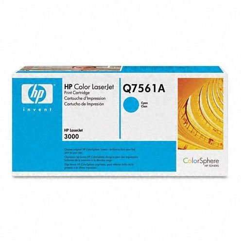 HP Color Laserjet Print Toner Cartridge Q7561A Cyan