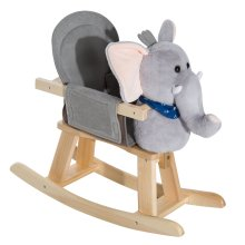 Homcom Elephant Animal Rocking Ride on Toy Chair for Kids
