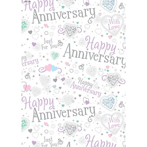 Iparty All Wrapped Up Happy Anniversary Gift Wraps (24 Sheets)