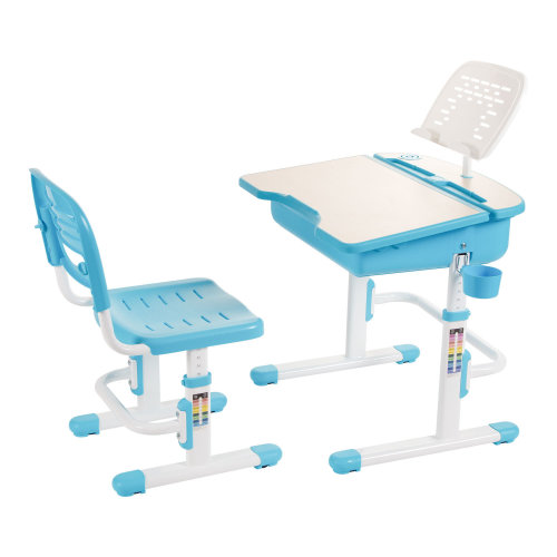 ChaCha Blue Height-Adjustable Kids' Desk, Bookstand & Chair Set