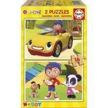 2 Wooden Jigsaw Puzzles - Noddy
