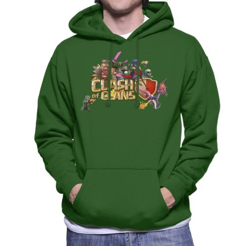 Clash Of Clans Characters Logo Men's Hooded Sweatshirt
