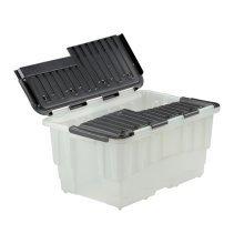 Strata 40 Litre Storemaster Plastic Smart Box with Black Hinged Lid