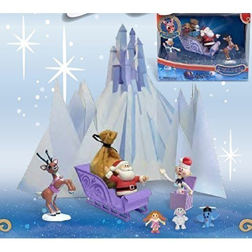 Rudolph Misfit Island PVC Figurine Scenic Display Set