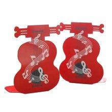 Cartoon Iron Bookcase Creative Thicker Baffle-Violin Red