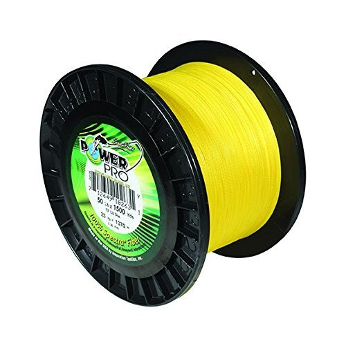 PowerPro Power Pro 21100050300Y Braided Spectra Fiber Fishing Line, 5 Lb/300 yd, Hi-VIS Yellow