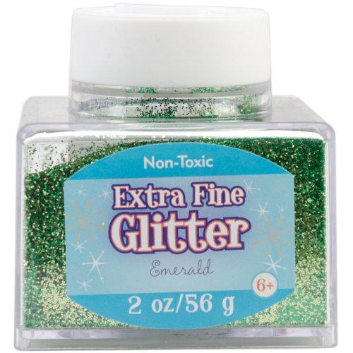 Extra Fine Glitter 2oz-Emerald