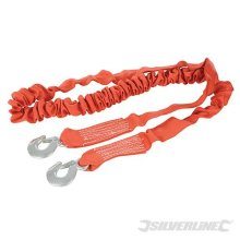 4m x 50mm Elasticated Tow Rope - 4 Silverline Tonne 443621 -  rope 4 tow elasticated silverline tonne x 4m 443621 50mm