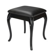 Black small Dressing Table/ Bedroom/ Foot Stool with Cabriole Legs