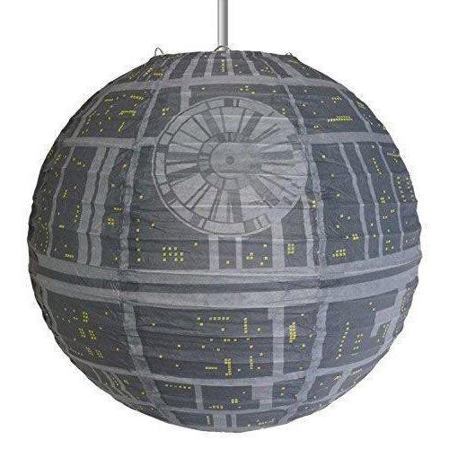 Star Wars Death Star Paper Light Shade - grey