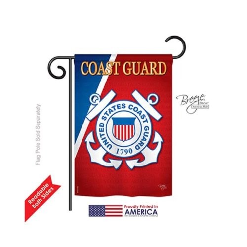 Breeze Decor 58056 Military Coast Guard 2-Sided Impression Garden Flag - 13 x 18.5 in.