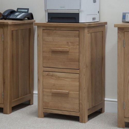 Homestyle Opus Solid Oak Furniture 2 Drawer Filing Cabinet
