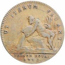1745 France Louis XV Tresor Royal Token