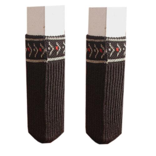 24 Pcs Chair Leg Pad Furniture Knit Socks Floor Protector, Dark Chocolate