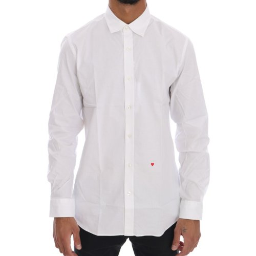 Moschino White Cotton Stretch Slim Fit Dress Shirt