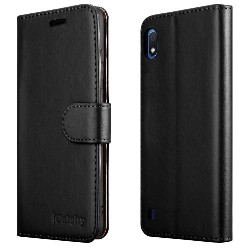 For Galaxy A10 Leather Wallet Flip Back Case Cover