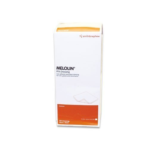 MELOLIN LOW-ADHERENT ABSORBENT DRESSING 10X10CM - PACK = 100 DRESSINGS - 100