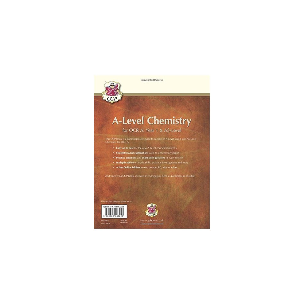 A-Level Chemistry for OCR A: Year 1 & AS Student Book with Online Edition  (CGP A-Level Chemistry)