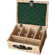 4 Glass Presentation Drinks Basket