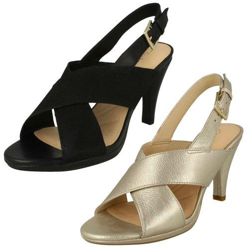 Ladies Clarks Heeled Slingback Sandals Dalia Lotus - D Fit