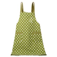 Japanese Style Cotton & linen Simple Cloth with Pocket Unisex Cooking Aprons, Green