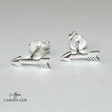 925 Sterling Silver Stud Earrings, Arrow Design