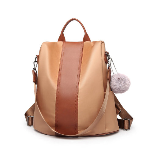 8ad0723f2686 Miss Lulu Women Anti-theft Backpacks Girls Fur Ball School Bags Waterproof Daypack  Rucksack Brown on OnBuy