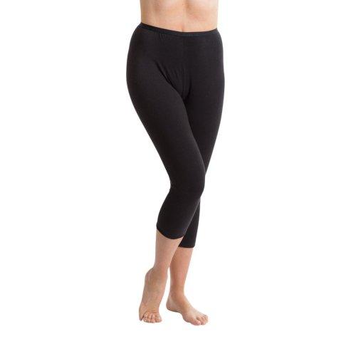 Passionelle® Ladies Black Premium Quality Luxury Cropped Leggings